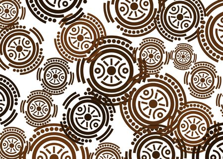 African print fabric, Ethnic handmade ornament for your design, Ethnic and tribal motifs geometric elements. Vector texture, afro textile Ankara fashion style. Pareo wrap dress, batik carpet style