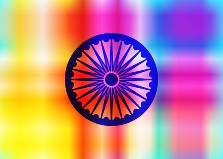abstract background of Indian colors, elegant Indian Independence Day celebration. Dharmachakra Ashoka Chakra