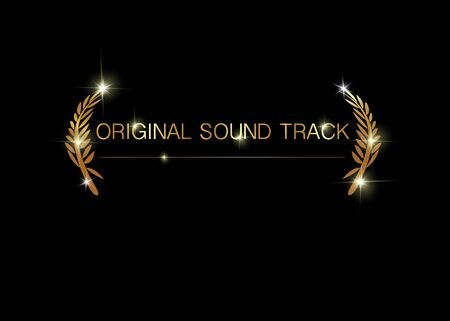 Gold vector original sound track concept template. Best original soundtrack prize icon 向量圖像