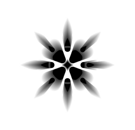 sacred flower, Celtic like style linear star with circle symbol. Linear knot, Wiccan tattoo for protection, mystical geometry. Wicca Ancient occult divination icon. Vector isolated on white  イラスト・ベクター素材