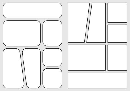 manga storyboard layout template for rapidly creating the comic book style. A4 design of paper ratio is fit for print out. Vector isolated