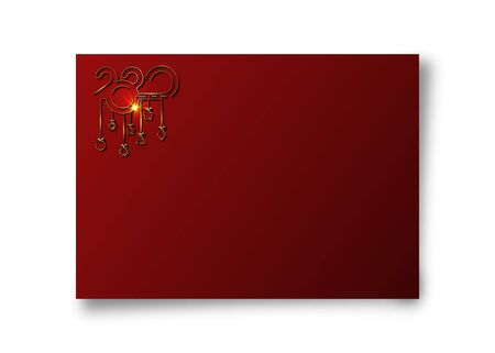 Golden banners 2020 Happy New Year Stock Vector - 134925092