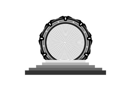 portal gate logo concept alien construction isolated on transparent background. Spatial entrance time machine icon  イラスト・ベクター素材