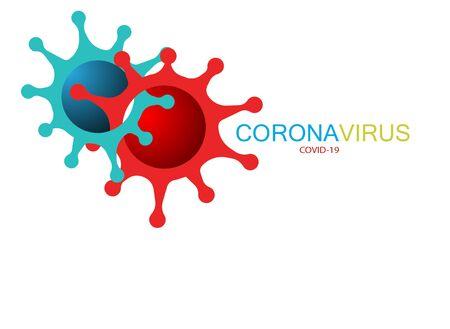 Covid-19 Coronavirus concept inscription typography design. World Health organization WHO introduced new official name for Coronavirus disease named COVID 19, dangerous virus vector illustration Ilustração