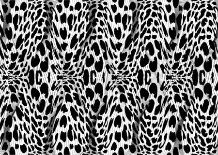 African Print fabric, fashion ethnic pattern of braided fiber, vintage tribal motif elements. Animal texture safari concept, afro textile Ankara fashion style. Dashiki pareo wrap dress, batik