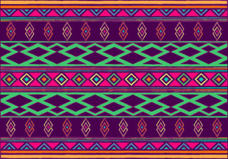 African Wax Print fabric, Ethnic handmade ornament for your design, tribal pattern motifs geometric element. Vector seamless texture, afro textile Ankara fashion style. Pareo wrap dress, carpet batik