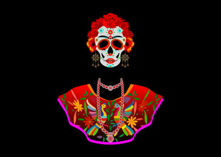 Day of the Dead, Catrina is a character of the Mexican popular culture that represent the death and is part of the collective imaginary that refers to the celebration of Dia de los Muertos. Isolated
