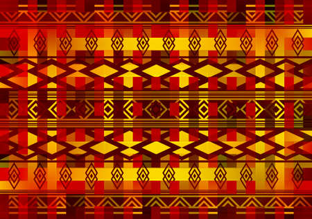 Tribal seamless pattern motifs geometric element.  イラスト・ベクター素材