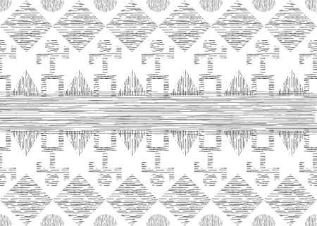 African Print fabric, Ethnic handmade ornament for your design, tribal pattern motifs geometric elements. Vector texture, afro textile Ankara fashion style. Pareo wrap dress, carpet batik from Mali 版權商用圖片 - 159008664