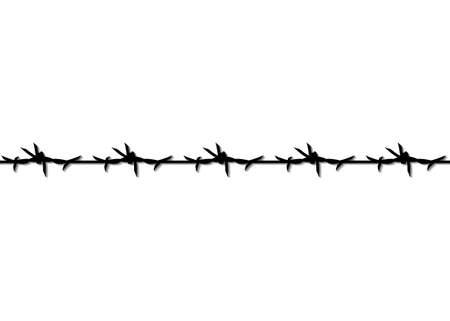 Barbed Wire icon, seamless pattern for political poster, protest against violence and injustice, struggle for freedom, fight for human rights concept, vector illustration isolated on white background 版權商用圖片 - 159008666