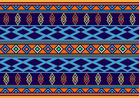 African Wax Print fabric, Ethnic handmade ornament for your design, tribal pattern motifs geometric element. Vector seamless texture, afro textile Ankara fashion style. Pareo wrap dress, carpet batik Illusztráció