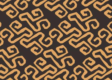 African Print fabric, Ethnic handmade ornament for your design, tribal pattern motifs, doodle geometric elements. Vector texture, afro textile Ankara fashion style. Pareo wrap dress, carpet batik