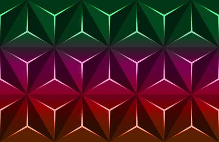 Geometric 3D Pattern with Basic Shapes. Colorful Background with luxury dark polygonal texture and pink triangle lines. Abstract Premium triangles design low poly surface, vector illustration