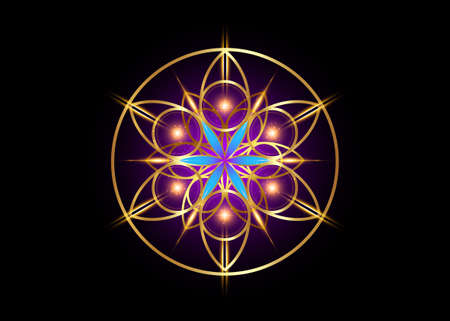 Flower of Life symbol Sacred Geometry. 向量圖像