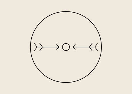 Native American symbols, Arrows are portrayed in the symbol of Protection because they were the Native American's main form of defense. The circle wrapped around the two arrows signifies family ties