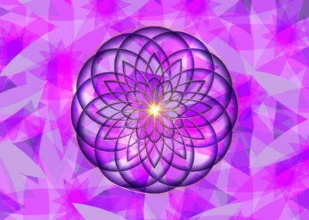 Gold Seed of life symbol Sacred Geometry.