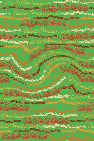 African Print fabric, Ethnic handmade ornament, Seamless tribal pattern motifs geometric elements. Vector texture, afro textile Ankara fashion style. Pareo wrap dress, carpet batik from Mali
