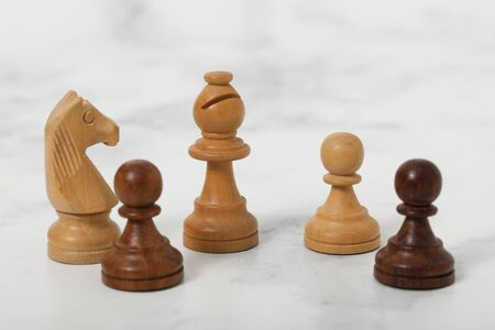 chess wood bishop piece for playing game