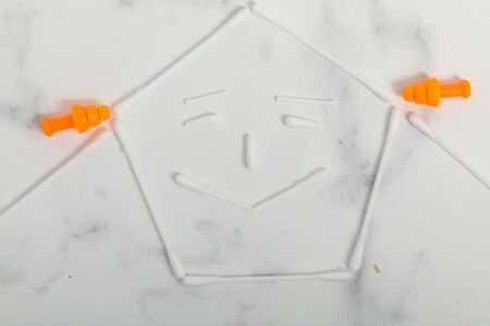 hygienic chopsticks isolated on a white background. Health item 版權商用圖片