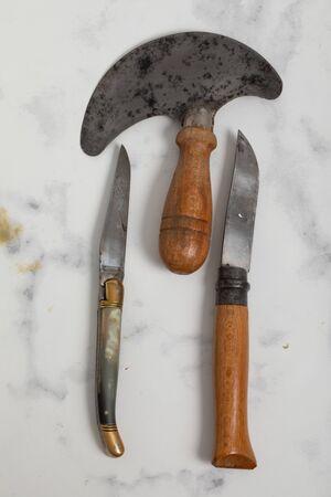 Pocket knife isolated on white background. 版權商用圖片
