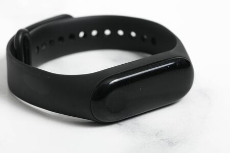 connected watch for smart phone shut down on white background.