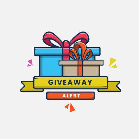cartoon giveaway gift icon vector illustration design. flat cartoon style
