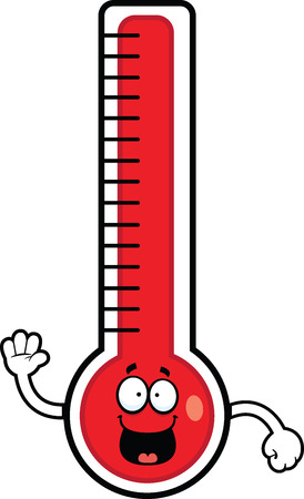 gesichtsausdruck: Cartoon Illustration von einem Thermometer mit einem gl�cklichen Ausdruck.