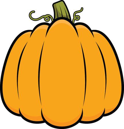 Illustration of a cartoon pumpkin. 矢量图像