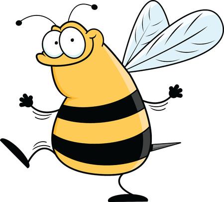 Illustration of a funny cartoon bee.