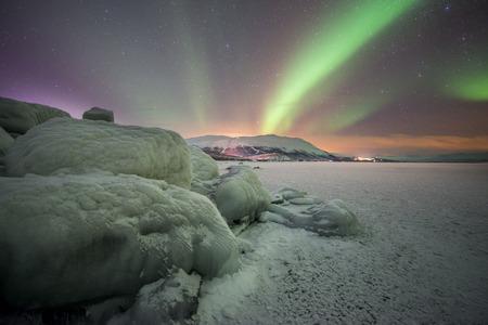 aurora borealis: Northern lights in Sweden