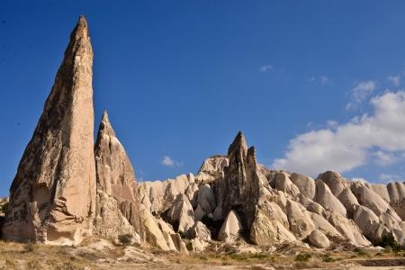 シュールなギザギザの山 写真素材