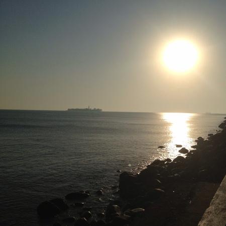amanecer: Breaking Dawn Beach Veracruz Foto de archivo