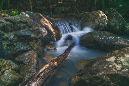 Phaeng Waterfalls with Tree Koh Phangan Stock Photo