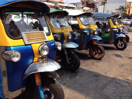 tuktuk: Tuk-tuk. Transportation. Local Tricycle Stock Photo