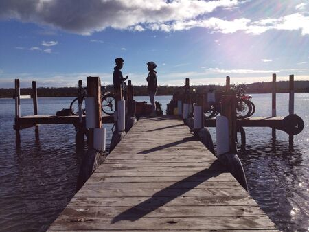 hope: Dock , wonderful , lake, scenic Stock Photo