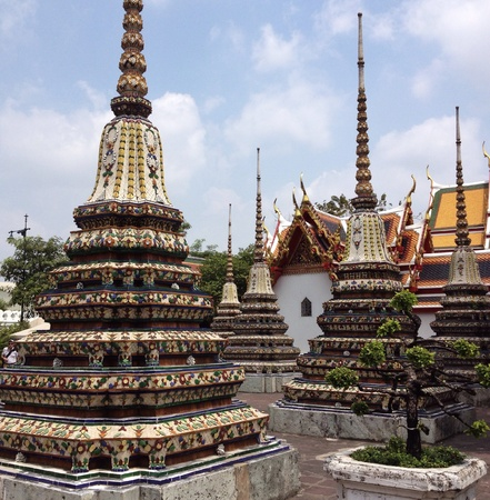 soul: Wat po , traditional thai architecture
