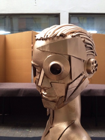 gold: Futuristic male cyborg head
