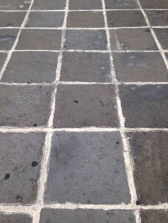 hardscape: Stone paving floor Stock Photo