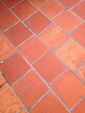 stoneware: Brick paving floor Stock Photo