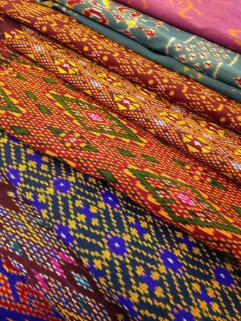 pleat: Traditional Thai silk Stock Photo