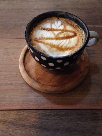 art: Caramel machiato, latte art