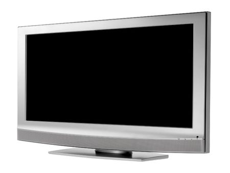 inches: Flat LCD tv on white background