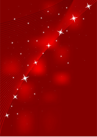 miracle square: Red background with stars Illustration