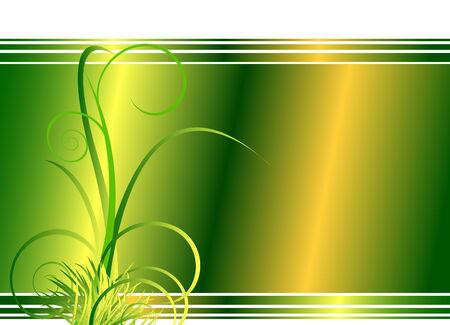 Floral background verde con césped, mirar las imágenes más grandes en mi cartera