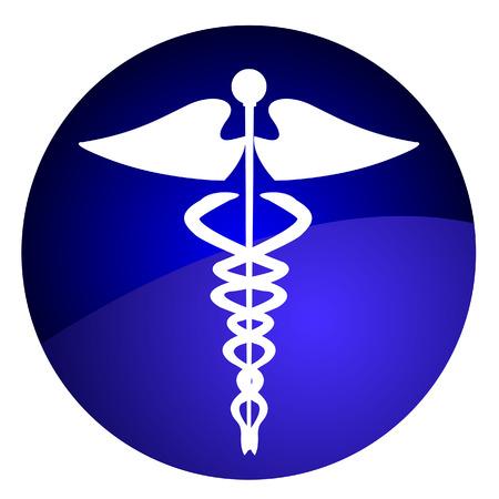 Medical caduceus sign Vector