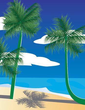 Tropical landscape Stock Vector - 3246116