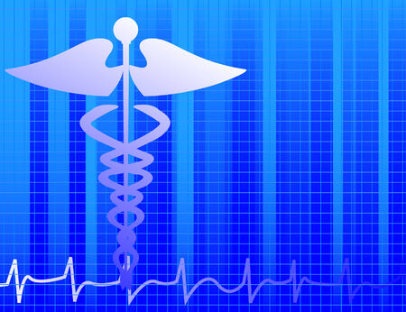 Blue medical background Stock Vector - 3282438
