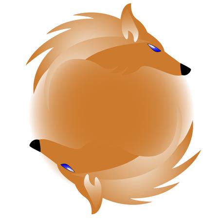 zorros: Logo con el zorro Vectores