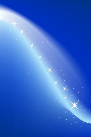 Blue background with stars, vector illustration Stock Vector - 3421586