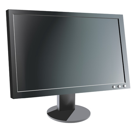 Computer monitor, realistic vector illustration Stock Vector - 3434382